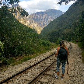 Walk from Hidroelectrica a Aguas Calientes.