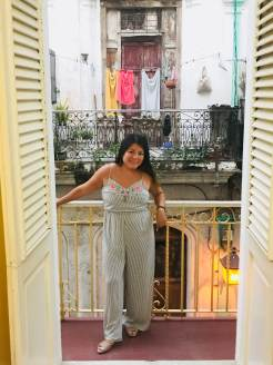 Balcony at our first Casa Particular in Old Havana